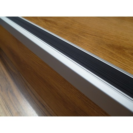 Aluminium Stair Sections With Rubber Strip Brown