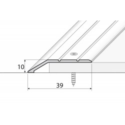 A11 Aluminium  sloping profile - self-adhesives 39mm