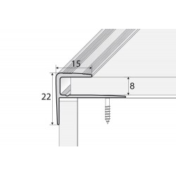 Aluminum F profile for stairs edges 120 -270cm