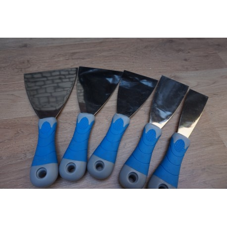 BLUE DOLPHIN – HARDENED STAINLESS STEEL SPATULA – SET X 5PCS IN BOX   FREE DELIVERY!!!
